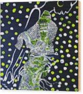 Dinka Maiden Dancing - South Sudan Wood Print