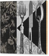 Dinner Conversation Wood Print