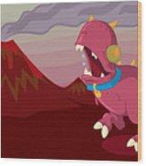 Dino Wood Print by Kyle Harper