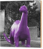 Dino Selective Coloring In Ultra Violet Purple Photography By Colleen Wood Print