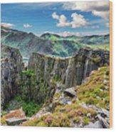 Dinorwic Slate Quarry Snowdon Wood Print