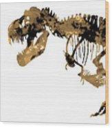 Dinosaur Sepia Print Wood Print