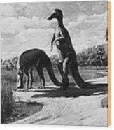 Dinosaurs: Trachodon Wood Print