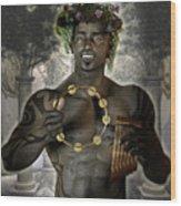 Dionysus God Of Grape Wood Print