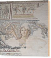 Dionysus Mosaic Mona Lisa Of The Galilee Wood Print