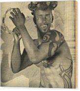 Dionysus Sepia Old Wood Print