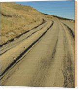 Dirt Road Winding Wood Print by Sami Sarkis