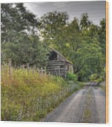 Dirt Roads Wood Print
