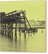 Disappearing Pier Wood Print