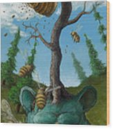 Disavowing Bear Wood Print