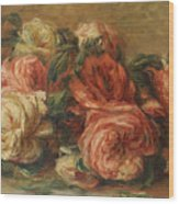Discarded Roses  Wood Print