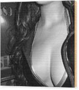 Discreet Lady 2  Wood Print