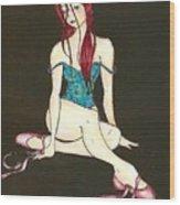 Disheveled Dancer Wood Print