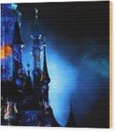 Disney Blues At Night  Wood Print