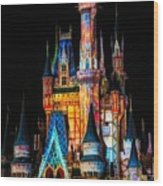 Disney Castle Wood Print