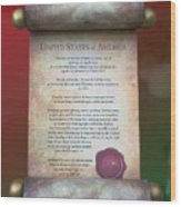 Disney World Christmas In The United States Scroll Wood Print