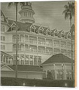 Disney World The Grand Floridian Resort Vintage Wood Print