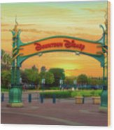 Disneyland Downtown Disney Signage 02 Wood Print