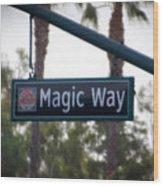 Disneyland Magic Way Street Signage Wood Print