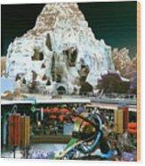 Disneyland Tomorrowland - Pop Color Wood Print