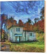 Displaced Wood Print