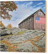 Display Of Colors - Roxbury Barn  Wood Print by Thomas Schoeller