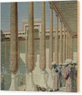 Display Of Trophies Wood Print