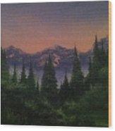 Distant Glow Wood Print