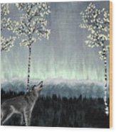 Distant Lights Wood Print