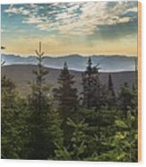 Distant Mountains To The East Wood Print