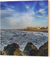Distant Pier Wood Print