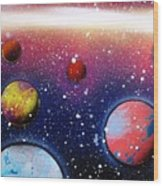 Distant Planets Wood Print