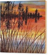 Distant Reflections Wood Print