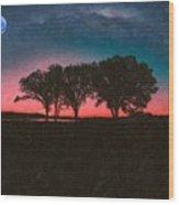 Distant Trees Under Milkyway Horizon By Adam Asar 2 Wood Print