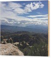 Distant Valley Wood Print