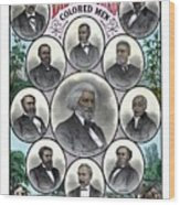 Distinguished Colored Men Wood Print