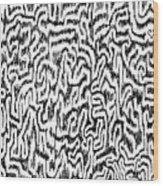 Distortion Wood Print