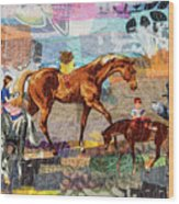 Distracted Riding Wood Print by Martha Ressler