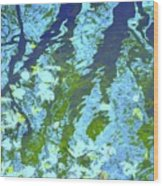 Disturbed Blues Wood Print by Sybil Staples