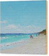 Ditch Plains Beach Montauk Hamptons Ny Wood Print