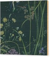 Ditchweed Fairy Cattails Wood Print