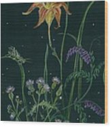 Ditchweed Fairy Daylily Wood Print