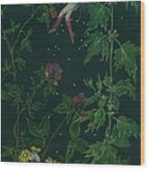 Ditchweed Fairy Raspberry Picking Wood Print