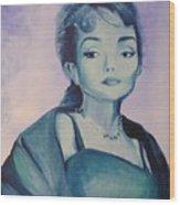 Diva I Maria Callas  Wood Print