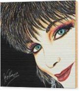 Diva Nasty Wood Print by Joseph Lawrence Vasile