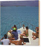Diveboat At Little Cayman Wood Print