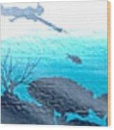 Diver Wood Print