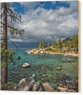Divers Cove At Lake Tahoe Wood Print
