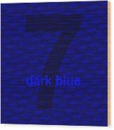 Divine Dark Blue Seven Wood Print