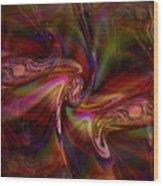 Divine Energy--healing Waves Wood Print